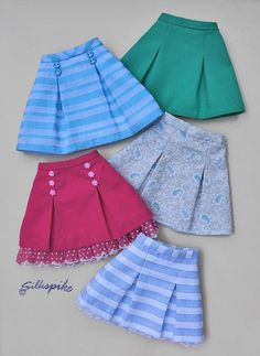 Pleated Bell Skirt Pattern for Ellowyne Wilde and Friends image 1 Kids Dress Wear, Dresses Kids Girl, Kids Outfits, Baby Girl Skirts, Girls Frock Design, Baby Dress Design, Baby Frocks Designs, Kids Frocks Design, Girls Skirt Patterns