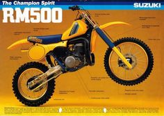 1981 Suzuki RM500 - yes the 500. One of the last years in production.