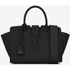 Saint Laurent Baby Monogram Saint Laurent Downtown Cabas Ysl Bag ($1,685) ❤ liked on Polyvore featuring bags, handbags and shoulder bags Buy Women fashion wallets and Latest Hand Bags USA at fashion Cornerstone.