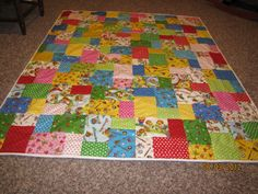 """Double Slice layer cake quilt - 42 10"""" pieces of fabric"""