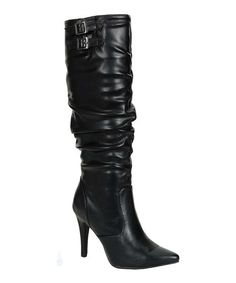 Take a look at this Black Scrunch Brandi Boot by Breckelle's on #zulily today!
