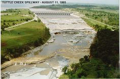 Tuttle spillway after the 1993 floods
