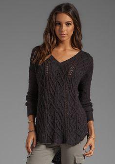Cross My Heart Sweater in Black.