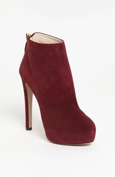 have to get me some red for the fall!  Prada Platform Bootie | Nordstrom