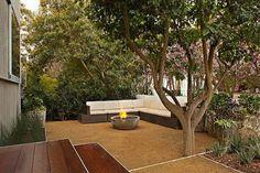 Gravel garden stones creating garden design