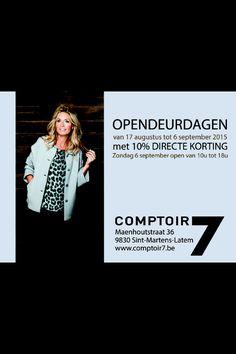 #comptoir7 #gent #latem #dameskleding #opendeur #opendeurdagen #korting #fashion