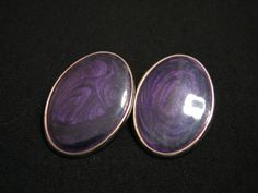 Vintage Edgar Berebi Oval Gold Tone and Purple by JewelryStash, $16.25