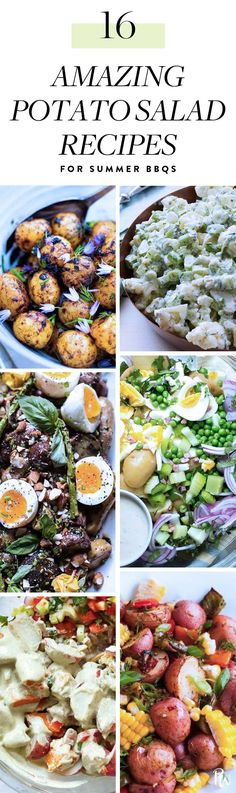 17 Surprising Potato Salad Recipes That Will Win the Summer Barbecue #potatosalad #potatosaladrecipes  #vegetarianrecipes #summerrecipes #bbqrecipes #cookoutrecipes #sidedishes