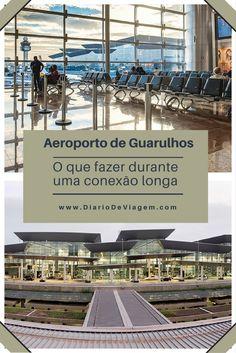 Aeroporto de Guarulhos: o que fazer durante uma conexão longa. Brazil Travel, Marina Bay Sands, Trip Planning, Travel Tips, Pergola, Outdoor Structures, How To Plan, Mansions, House Styles