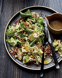 Escarole Salad with Red Quinoa and Hazelnuts Recipe on Food & Wine