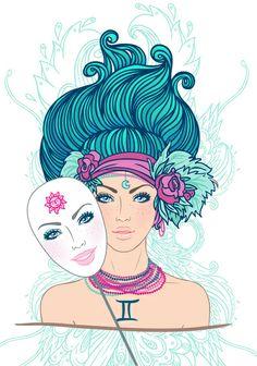 Gemini Art Print by Varvara Gorbash