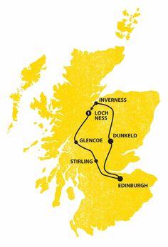 Highland Weekender Tour Map