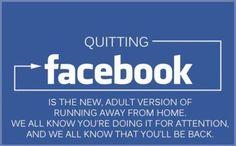 Quitting Facebook.
