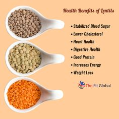 Health Benefits of Lentils #energy #weightloss #health #thefitglobal