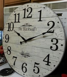 Wonderful Pic grey Fireplace Mantels Ideas 30 inch White/Gray Shabby Chic Shiplap-Look Clock, Farmhouse Clocks, Rustic Wall Clocks, Wood Clocks, Farmhouse Wall Decor, Kitchen Wall Clocks, Grey Fireplace, Fireplace Mantels, Pallet Clock, Clock Painting