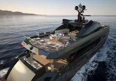 This is Columbus Sport Hybrid 130, a 313-foot luxury super-yacht!