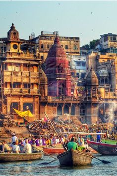 The cremation ghats in Varanasi. Hindus consider it auspicious to die and be cremated in Varanasi as it breaks the cycle of death and rebirth. Read more about things to do in Varanasi in my travel guide.