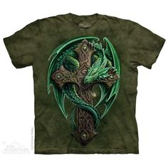 Woodland Guardian T-shirt by Anne Stokes - Dragon & Celtic Cross - Coming Soon.