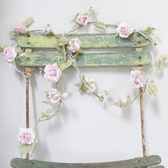 Pretty garland - could hang on the backs of chairs during ceremony and again with long tables