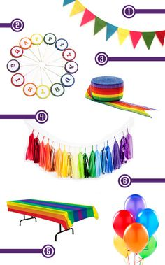 Rainbow Birthday Party Decorations