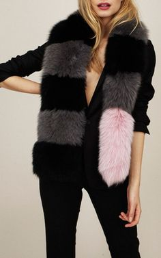 Fox Fur Big Daddy with Powder Pink Tail by Charlotte Simone for Preorder on Moda Operandi