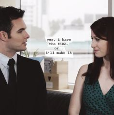 """""""Yes, I have the time.. or I'll make it."""" roughly translates to """"I always have time for you, Lizzie Bennet."""""""