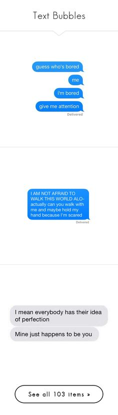 """""""Text Bubbles"""" by layla1288 ❤ liked on Polyvore featuring text, fillers, words, quotes, fillers - speech bubbles, backgrounds, phrase, saying, aesthetic and filler"""