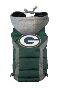 Green Bay Packers Dog Puffer Vest by Hip Doggie on @HauteLook
