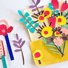 A blog that celebrates the world of pattern design. Covering greetings cards, wrap, fabrics, wallpaper, stationery and more. Art Carton, Paper Art, Paper Crafts, Diy Paper, Crafts For Kids, Arts And Crafts, Art Plastique, Elementary Art, Teaching Art