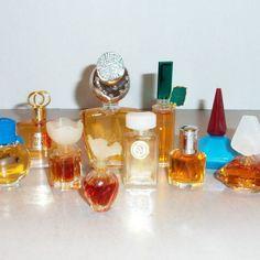 10 Miniature Name Brand Perfume Bottles   $35