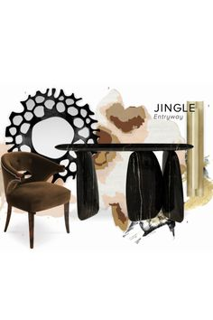 """Jingle Entryway is part of The""""Èternel"""" Parisian Apartmentis - the newest project designed by The Studio HOME'SOCIETY x BRABBU. Check the article to know more about the products used to complete the decor"""