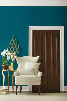 """Sherwin-Williams Announces Its 2018 Color of the Year - Meet Oceanside (SW 6496), a """"fusion of rich blue with jewel-toned green"""" that """"evokes optimism"""" and """"offers a sense of the familiar with a hint of the unknown, bridging between old and new, light and dark.""""  """"People today have a growing sense of adventure, and it is making its way into even the coziest corners of our homes,"""""""