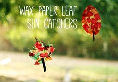Wax Paper Leaf Sun Catchers