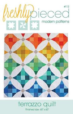 This simple but modern take on a classic pattern and puts a fresh twist on the nine patch block with and illusion of curved piecing. Pattern includes options fo