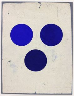 blue circles dots pois art anonymous tantric painting