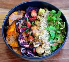Roasted Tahini Veggie Quinoa Bowl