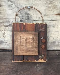 Primitive Mixed Media, Hand Engraved Wood, Rustic Home Decor, Accent Art, Rusty Bells, Cabin, Office, Lodge, Cornucopia, Neutral, Wire