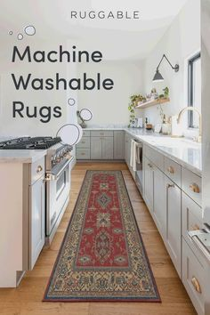 Protect your floors from spills and stains while adding a pop of color in your kitchen. Shop our machine washable rugs! Kitchen Shop, Kitchen Rug, Home Decor Kitchen, Home Kitchens, Kitchen Cabinets, Kitchen Runner, Kitchen Throw Rugs, Galley Kitchens, Machine Washable Rugs