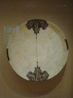 motivos vegetales de cocina, aprox 45 cm de diámetro. Samánida, 10thC de lo que hoy es Uzbekistán