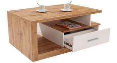 Konferenční Stolek Iguan - bílá/barvy dubu, Moderní, dřevěný materiál (110/45/67cm)