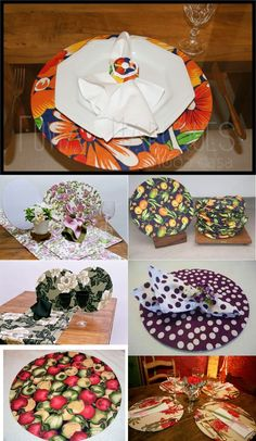 s3 Handmade Crafts, Diy And Crafts, Plate Mat, Dollar Store Hacks, Mug Rugs, Home Textile, Homemade Gifts, Fabric Crafts, Table Settings