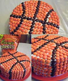 Basketball Cake for Kyle's birthday