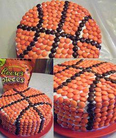 Basketball Cake for Kyle's birthday