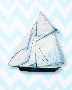 Nautical Ship Giclée Canvas Art