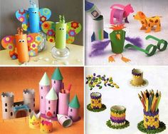 Recycled Paper Roll Crafts
