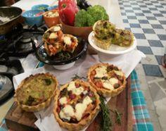 Tartín de brócoli y tartín de vegetales asados