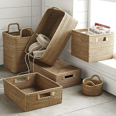 "Small Round Basket: 7""diam. x 5""h Storage Bin: 12""sq. x 12""h Medium Harvest Basket: 17""w x 14""d x 6""h Handled Basket: 12.5""sq. x 19.25""h.  Oversized Storage Bin: 12""w x 20""l x 6""h Underbed Storage: 12""w x 20""l x 6""h"