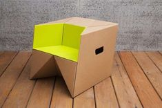 33 Creative Cardboard Furniture Designs - From Folded Cardboard Furnishings to Comfy Waffle Seating (TOPLIST) Cardboard Chair, Diy Cardboard Furniture, Cardboard Design, Paper Furniture, Cardboard Crafts, Kids Furniture, Furniture Design, Bamboo Furniture, Coaster Furniture