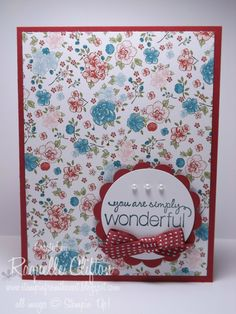 Clean & Simple. Stampin' From The Nest - Raquelle Clifton