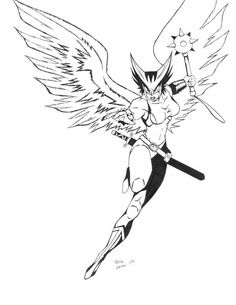 Hawkgirl by Zetenna